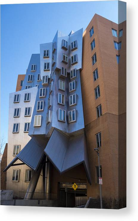 Stata Canvas Print featuring the photograph Stata Center Cambridge Ma Mit by Toby McGuire
