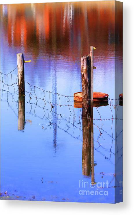 Fence Canvas Print featuring the photograph Still In Time by Cathy Beharriell