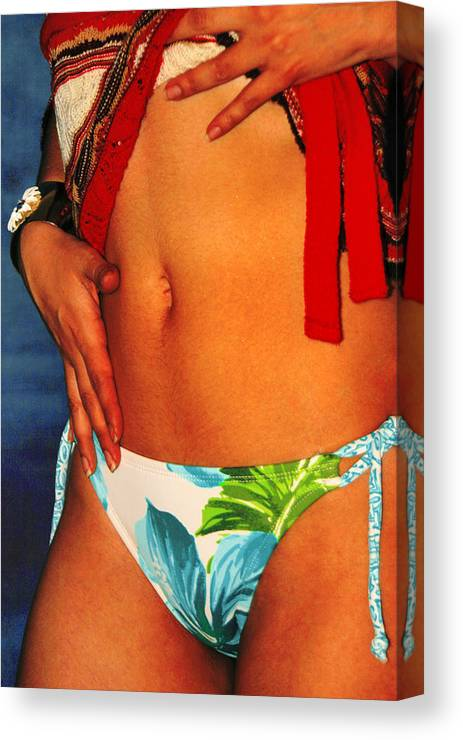 Female Canvas Print featuring the photograph Stomach by Tom Miles