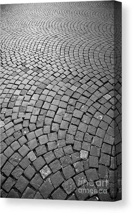 Stone Pavement Canvas Print featuring the photograph Stone Pavement by Hideaki Sakurai