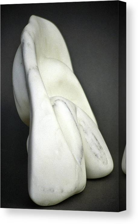 Sculpture Canvas Print featuring the sculpture Stonescape by Lonnie Tapia