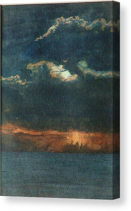 Landscape Canvas Print featuring the painting Storm Brewing by Lynn ACourt