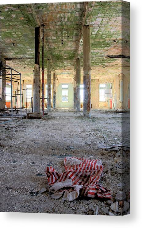 Abandonment Canvas Print featuring the photograph Stripes by Kevin Brett