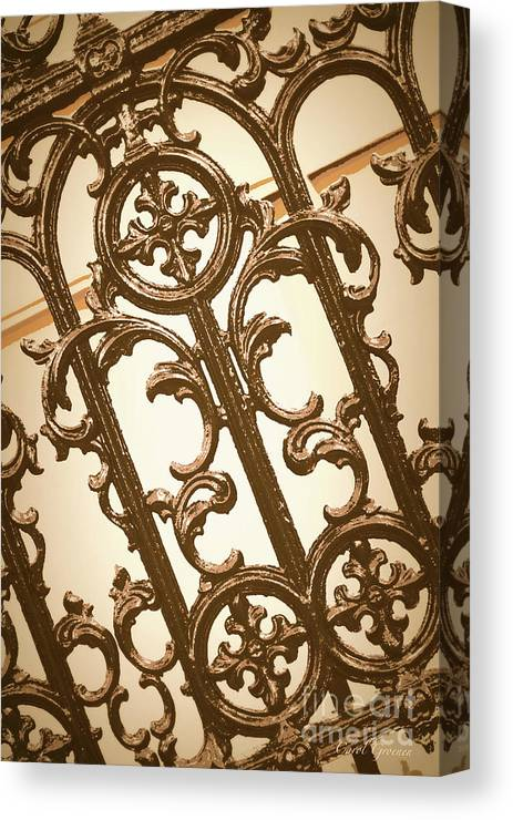 Southern Charm Canvas Print featuring the digital art Subtle Southern Charm In Sepia by Carol Groenen