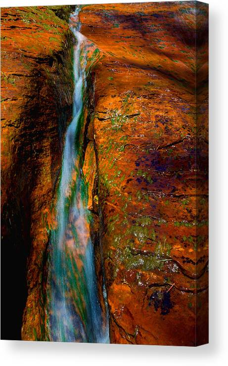 Outdoor Canvas Print featuring the photograph Subway's Fault by Chad Dutson
