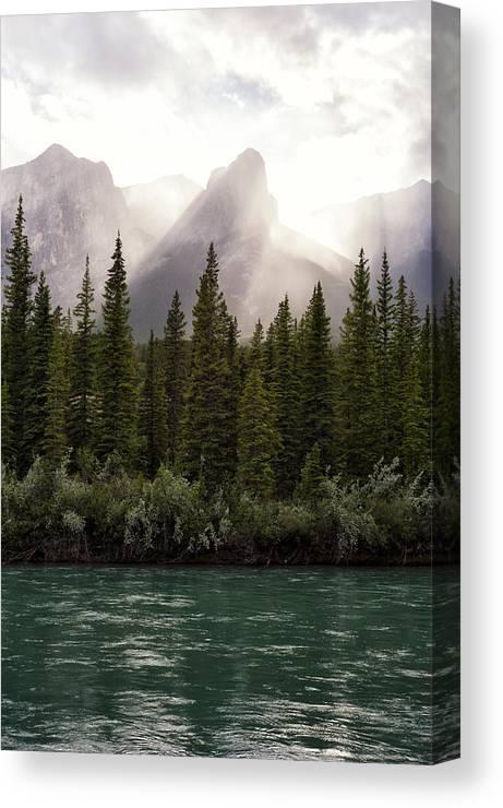 Landscape Canvas Print featuring the photograph Sun Awakens by Michael Ritz