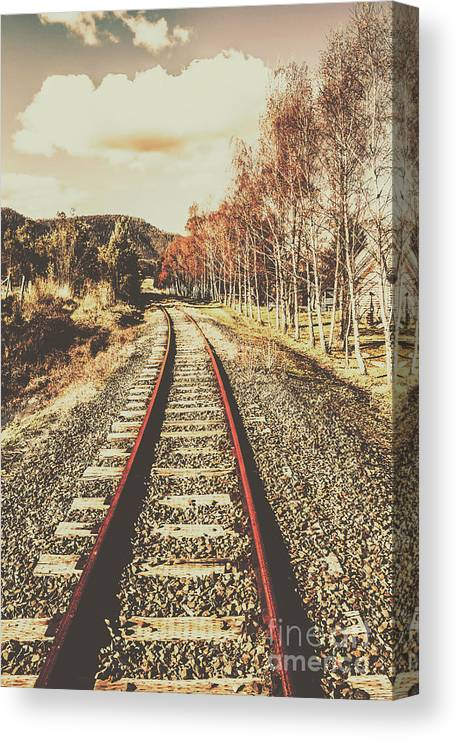 Vintage Canvas Print featuring the photograph Tasmanian Country Tracks by Jorgo Photography - Wall Art Gallery