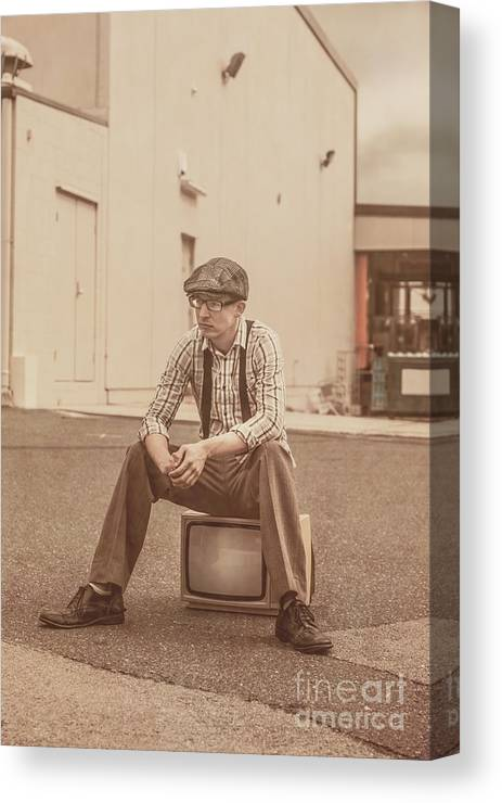 Bored Canvas Print featuring the photograph Television Is Broken by Jorgo Photography - Wall Art Gallery