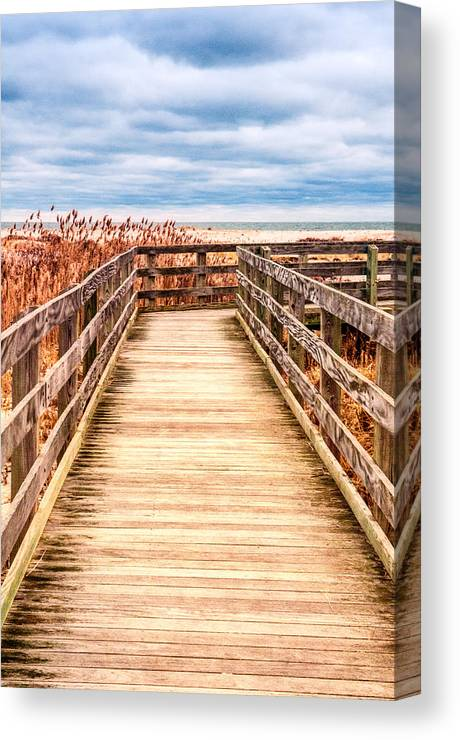 Beach Canvas Print featuring the photograph The Boardwalk by Linda Pulvermacher