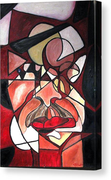 Abstract Canvas Print featuring the painting The Brain Surgeon by Patricia Arroyo