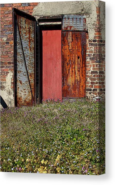 Rust Canvas Print featuring the photograph The Door by Alan Skonieczny