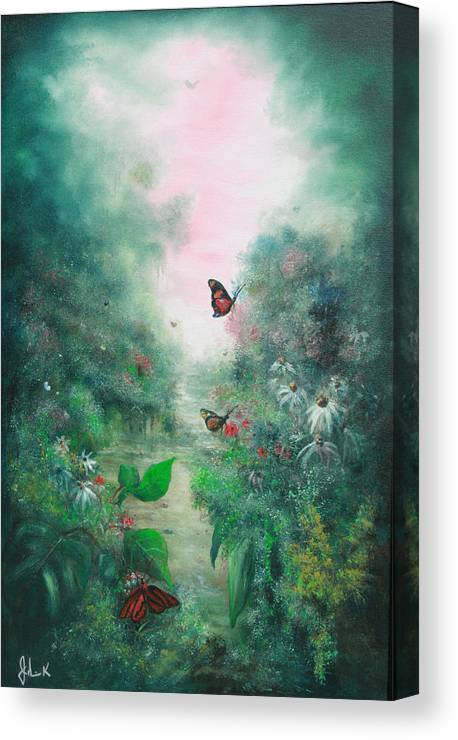 Art Canvas Print featuring the painting The Dream by Johnnie Kaylor
