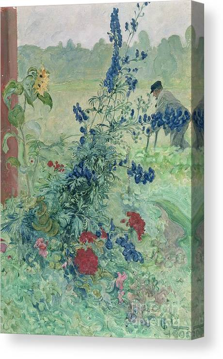 The Canvas Print featuring the painting The Grandfather by Carl Larsson