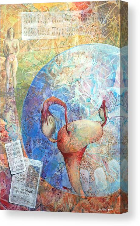 Woman Canvas Print featuring the painting The Healer Set Me Free by Arlissa Vaughn