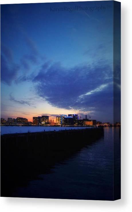 Boston Canvas Print featuring the photograph The Long Pier, Boston Ma by Karyn Regal