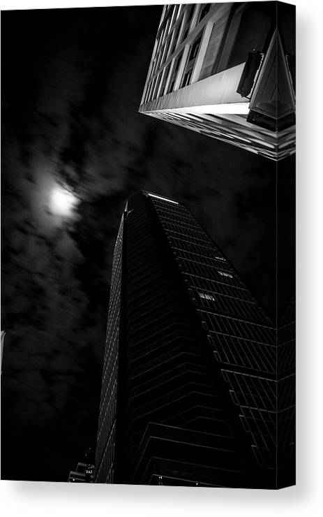 Architecture Canvas Print featuring the photograph The Moon's Light by Eric Christopher Jackson