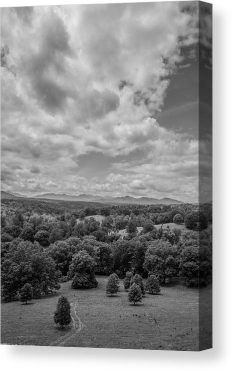 Mountains Canvas Print featuring the photograph The Trail by Jonathan Hopper