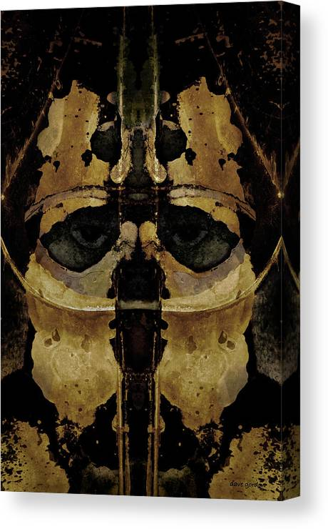 Armor Canvas Print featuring the photograph The Warrior by David Gordon