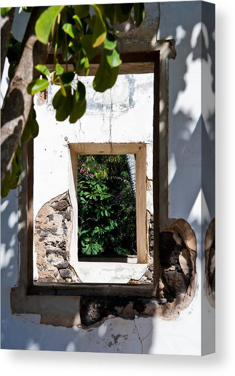 Building Canvas Print featuring the photograph Through The Window by Roger Mullenhour
