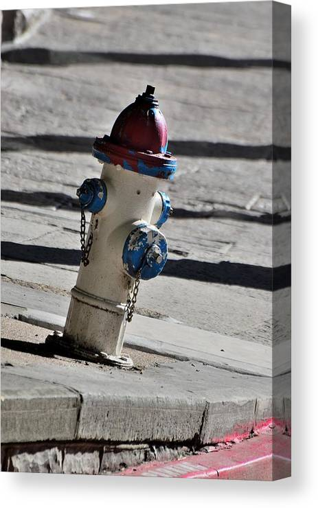 Streets Canvas Print featuring the photograph Todays Art 1307 by Lawrence Hess