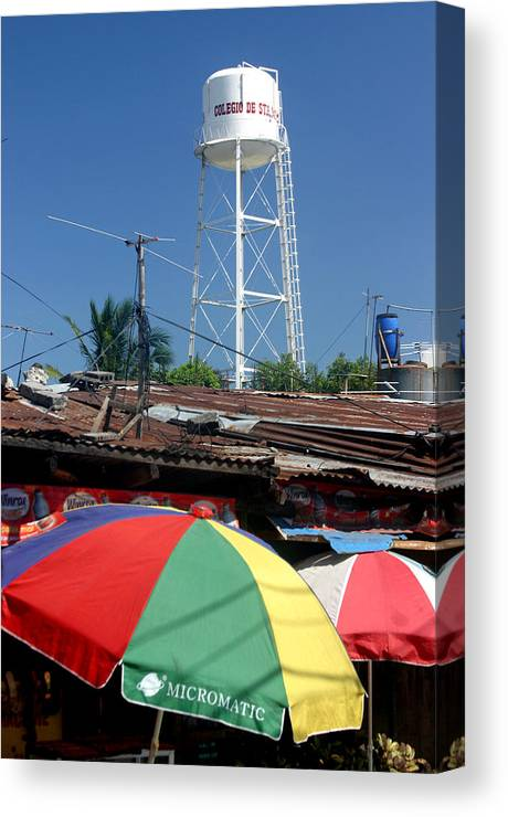Photographer Canvas Print featuring the photograph Tubig Tower 4 by Jez C Self