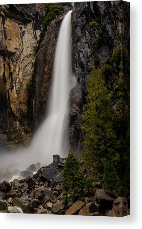 Waterfalls Canvas Print featuring the photograph Vernal Falls by TM Schultze
