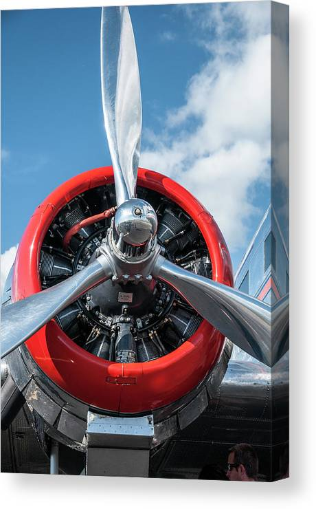 American Airlines Canvas Print featuring the photograph Vintage Aa Propeller by Ginger Stein