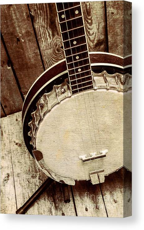 String Canvas Print featuring the photograph Vintage Banjo Barn Dance by Jorgo Photography - Wall Art Gallery