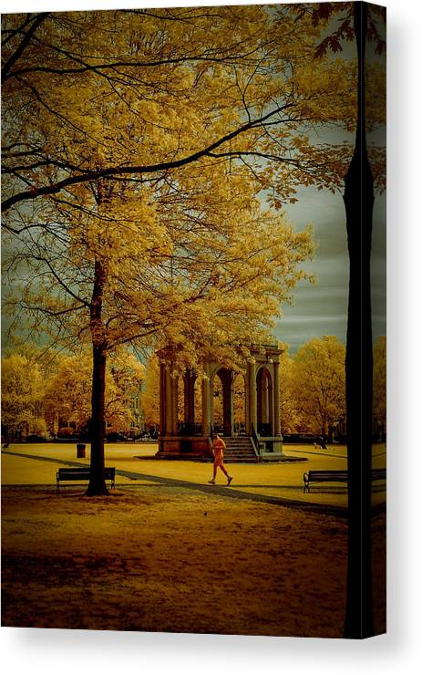 Salem Canvas Print featuring the photograph Walking Salem Common by Jeff Folger