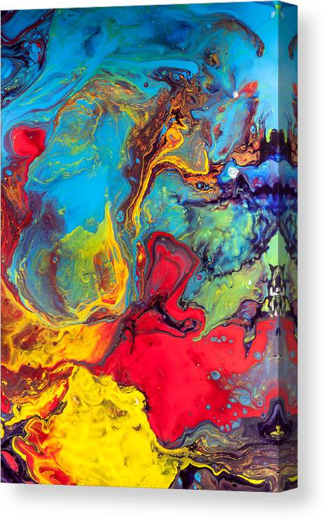 Wanderer Abstract Colorful Mixed Media Painting Canvas Print