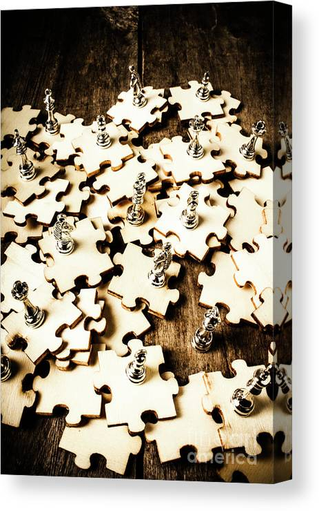 Puzzle Canvas Print featuring the photograph War In A Puzzle Plan by Jorgo Photography - Wall Art Gallery
