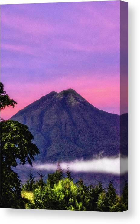 Volcan De Agua Canvas Print featuring the photograph Water Volcano, Guatemala by Totto Ponce