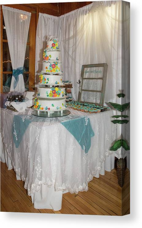 Canvas Print featuring the photograph Wedding Cake by Debra Wales