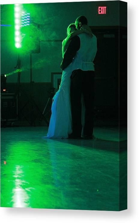 Bride Canvas Print featuring the photograph Wedding Dance by David Ralph Johnson