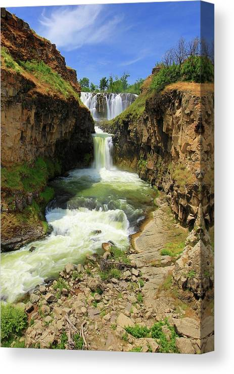 Waterfalls Canvas Print featuring the photograph White River Falls D by Jesus Maldonado