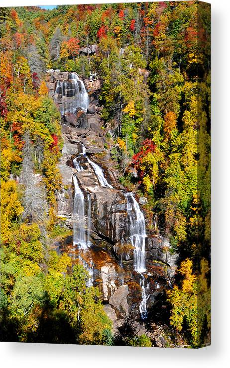 Whitewater Falls Canvas Print featuring the photograph Whitewater Falls by Alan Lenk