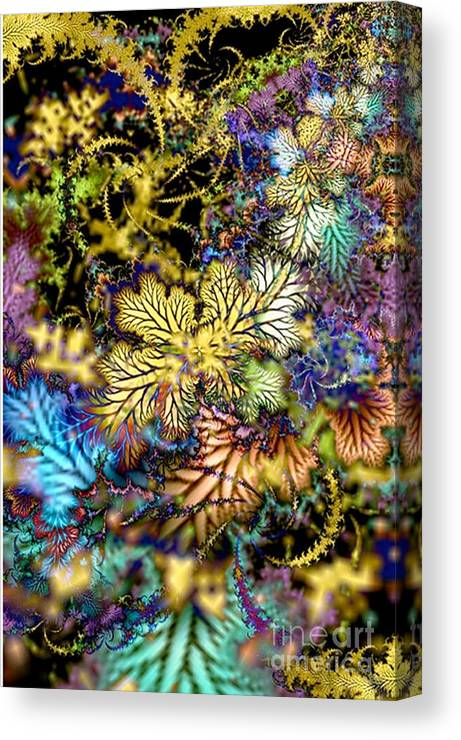 3d Canvas Print featuring the digital art Wild Autumn by Rebecca Phillips