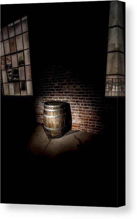 Wine Canvas Print featuring the photograph Wine Barrel Divinity by Jason Stanton