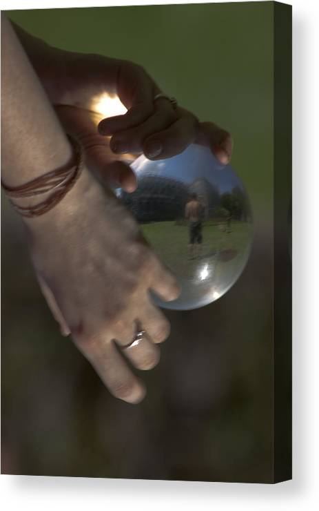 Acrilic Canvas Print featuring the photograph World In Your Hands by Marta Grabska