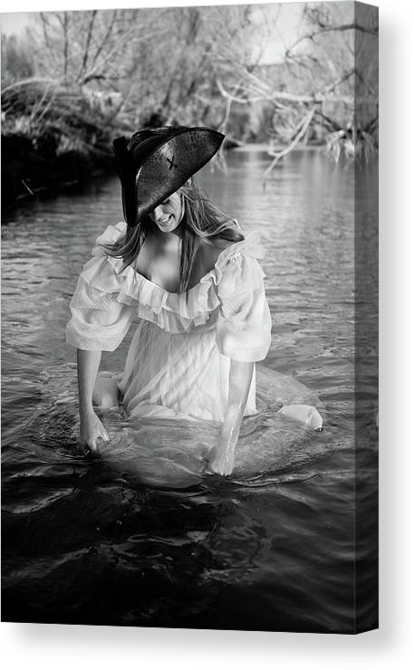 Fording A River Canvas Print featuring the photograph Ye Olde Lass by Scott Sawyer