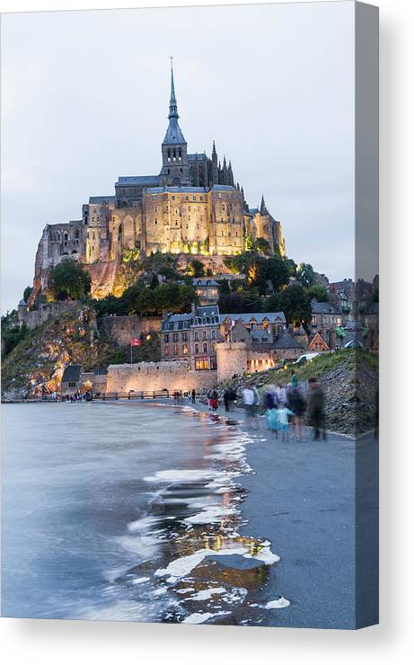 Mont Saint-michel Canvas Print featuring the photograph Le Mont Saint Michel, Normandy, France by John Harper