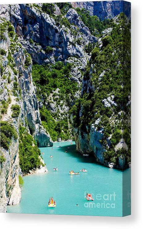 Activity Canvas Print featuring the photograph St Croix Lake, Les Gorges Du Verdon by Richard Semik