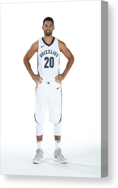 Media Day Canvas Print featuring the photograph 2017-2018 Memphis Grizzlies Media Day by Joe Murphy