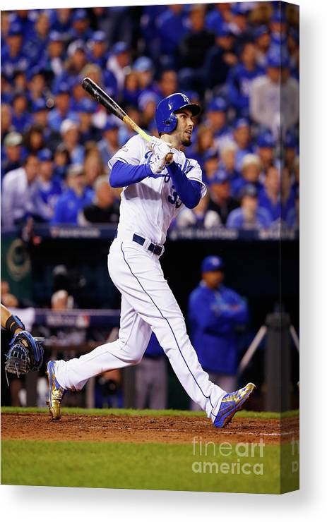 People Canvas Print featuring the photograph League Championship - Toronto Blue Jays 2 by Jamie Squire