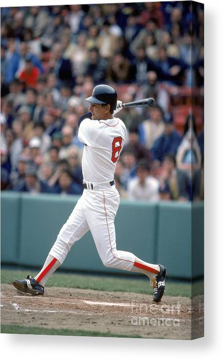 1980-1989 Canvas Print featuring the photograph Mlb Photos Archive 29 by Rich Pilling