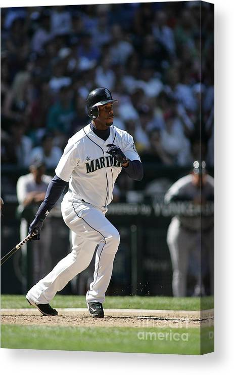 People Canvas Print featuring the photograph New York Yankees V Seattle Mariners 4 by Rob Leiter