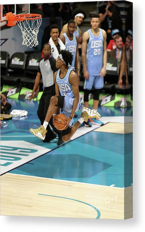 Nba Pro Basketball Canvas Print featuring the photograph 2019 Mtn Dew Ice Rising Stars 5 by Kent Smith