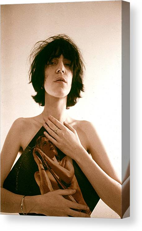 Event Canvas Print featuring the photograph Patti Smith Portrait Session 6 by Michael Ochs Archives