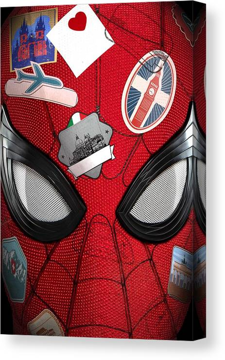 Canvas Print featuring the digital art Spider Man by Geek N Rock