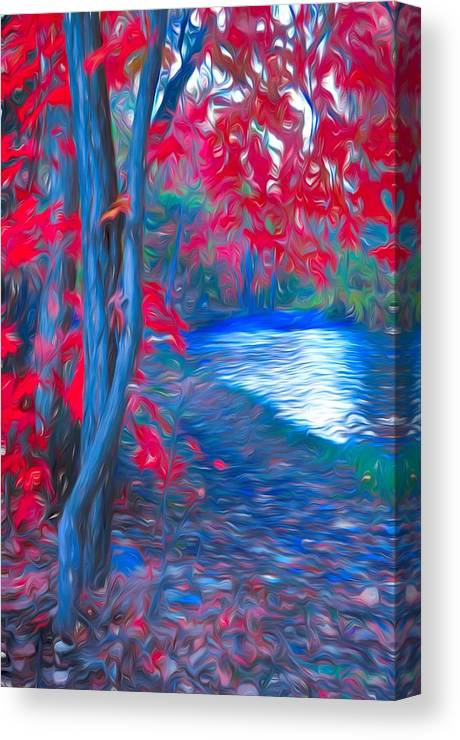 Tree Canvas Print featuring the photograph A Delicate Autumn by Tara Turner